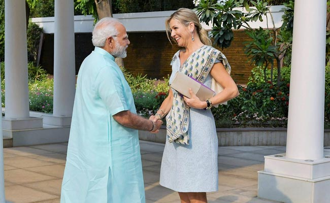 PM Modi Meets Queen Maxima Of Netherlands, Discuss Financial Inclusion