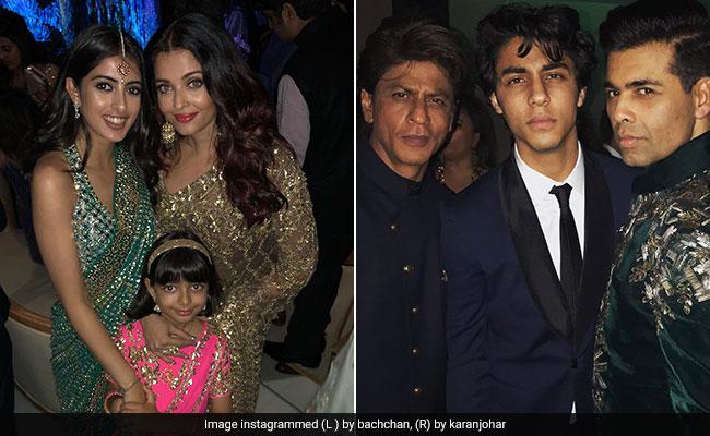 Big B की नातिन से शाहरुख खान के बेटे तक, आकाश अंबानी और श्लोका मेहता की सगाई में पहुंचे ये सितारे