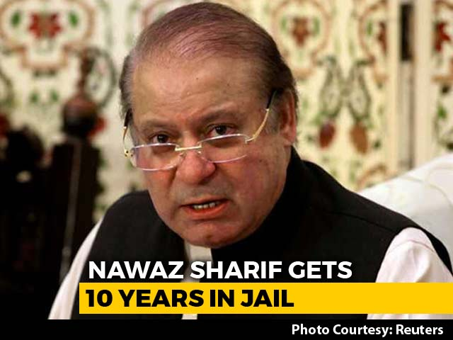 Video : Nawaz Sharif Sentenced To 10 Years For Corruption, Daughter Maryam Gets 7