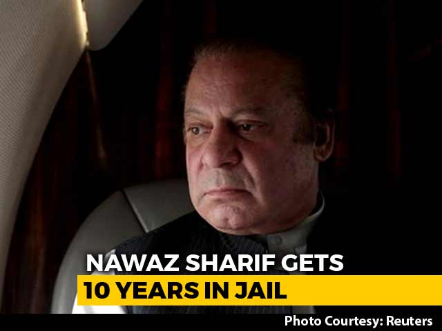 Video : 10 Years' Jail Sentence For Former Pak PM Nawaz Sharif