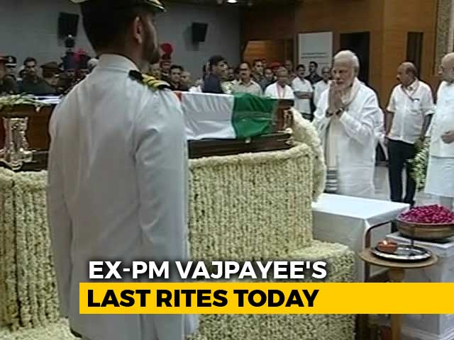 Video : India Mourns Vajpayee, Poet Prime Minister, Statesman. Funeral Today