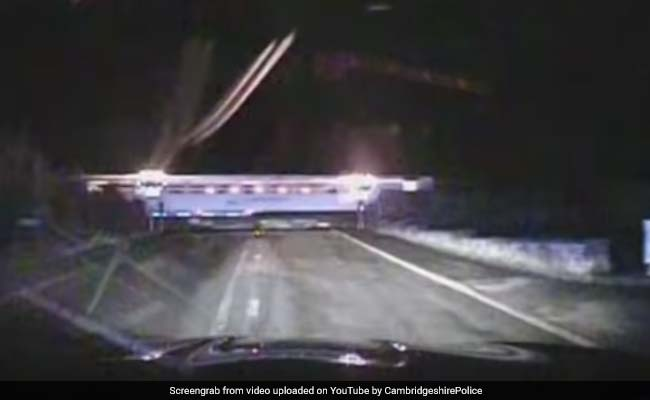 Caught On Camera: Driver Narrowly Misses Train In 180 Kmph Police Chase