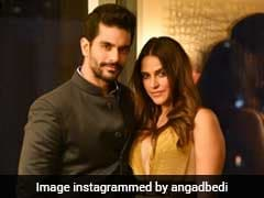 No, Fellas. Neha Dhupia And Angad Bedi Are Not On Honeymoon. It 'Can Wait'