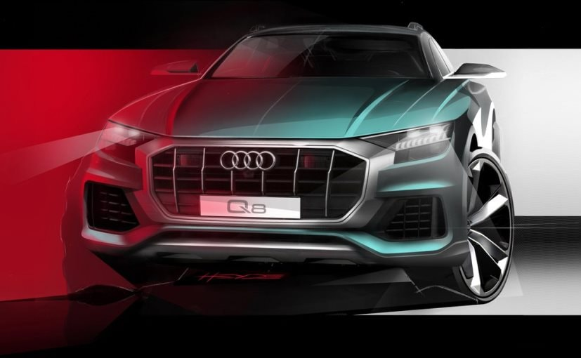 Audi Q8 Official Teaser Sketch Reveals Aggressive Front Design