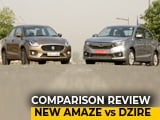 Video: New Honda Amaze VS Maruti Suzuki Dzire Comparison Review