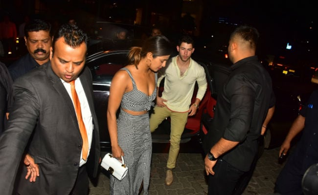Priyanka Chopra with Nick Jonas in Mumbai