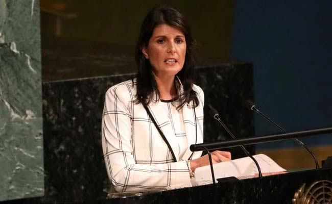 Haley slams rights groups after United States  quits UN council