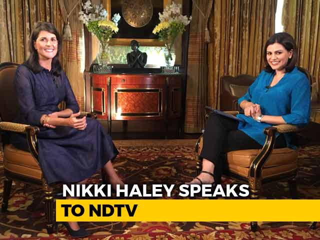 "Video : ""Good Reason To Postpone Talks, PM Modi Knows Why"": Nikki Haley To NDTV"