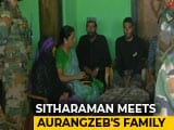 "Video : Killed Soldier Aurangzeb's Family ""Inspiration"", Says Nirmala Sitharaman"
