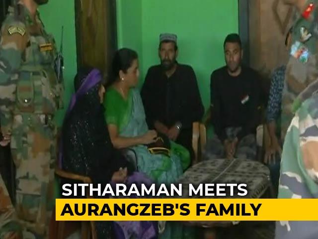 "Video : Killed Soldier Aurangzeb's Family ""Inspiration"", Says Nirmala Sitharaman"