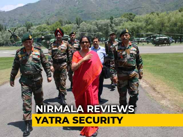 Video : Nirmala Sitharaman Reviews Amarnath Yatra Security Arrangements