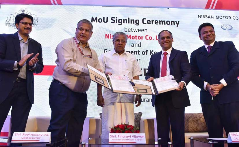 Nissan Signs MoU With Kerala Government