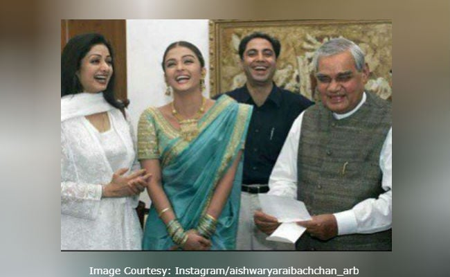 Aishwarya Rai Bachchan Pays Tribute To Atal Bihari Vajpayee With Old Pic, Also Featuring Sridevi