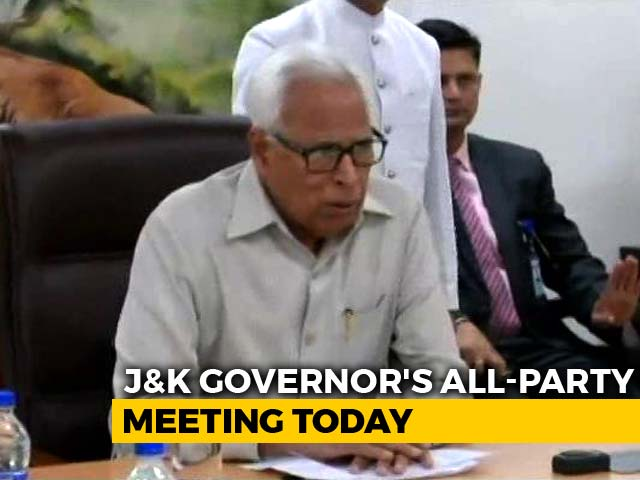 Video : Jammu And Kashmir Governor N N Vohra To Hold All-Party Meet Today