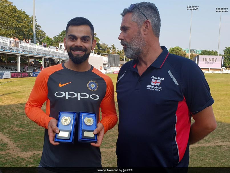 India vs England: Virat Kohli Named International Player Of The Year By Barmy Army