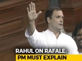"Video : ""PM Is Not A <i>Chowkidar</i> But <i>Bhaagidaar</i>"": Rahul Gandhi on Rafale Deal"