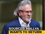 Video : Indian Assets Set To Slip Away, Vijay Mallya Anxious To Return: Sources
