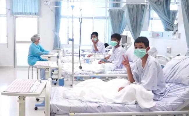 Thai Boys Wave To The World In First Clips After Being Rescued