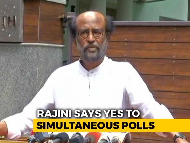 Video : Rajinikanth Supports Simultaneous Elections, Says Will Save Time, Money