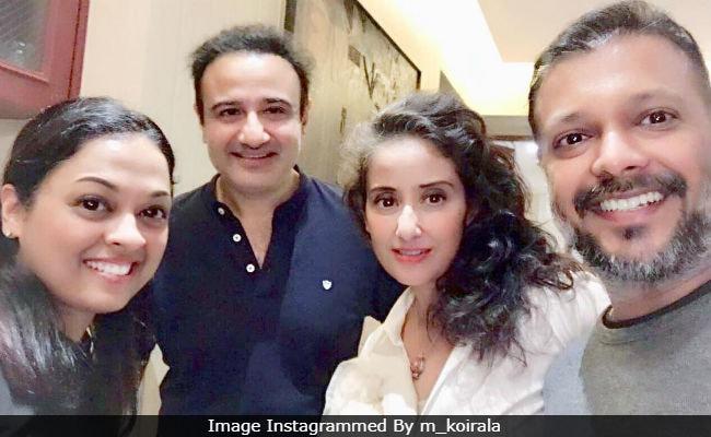 A Saudagar Reunion For Manisha Koirala And Co-Star Vivek Mushran. See Pic