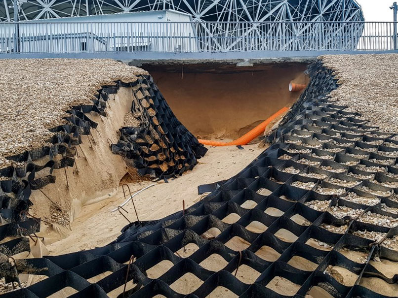 World Cup 2018: Flooding Damages World Cup Stadium In Russia