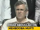 "Video : ""I Asked Mehbooba Mufti To Walk Out, Wish She Listened,"" Says Omar Abdullah"