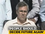 Video : Not Celebrating, We Are Mourning Death Of Democracy: Omar Abdullah
