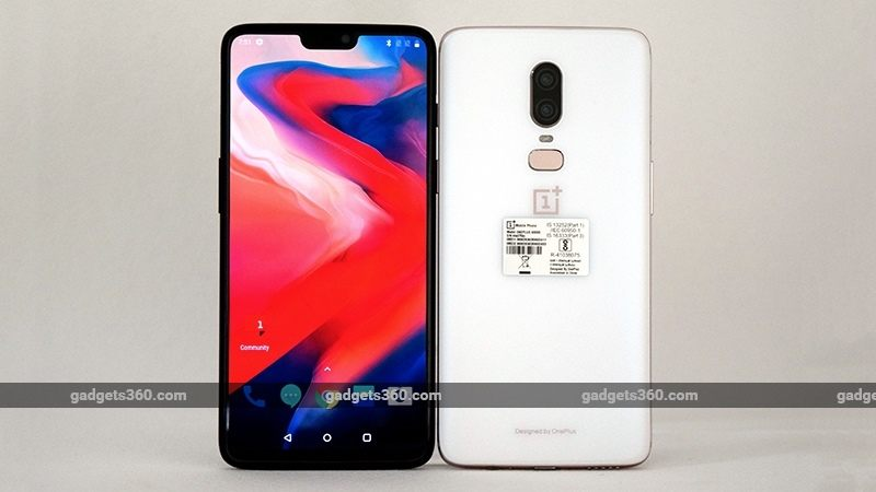 oneplus 6 white front back gadgets 360