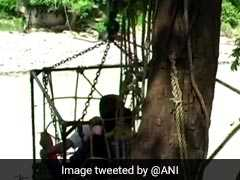 Risking Lives, Children Use Ropeway To Reach School In Nainital