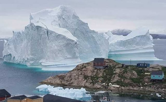 Greenland villagers evacuated after iceberg comes to town