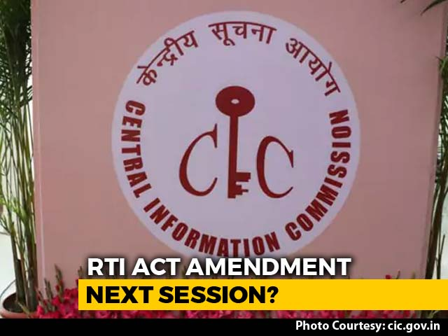 Video : Concerns Raised As Centre Moves To Amend RTI Law In Parliament Session