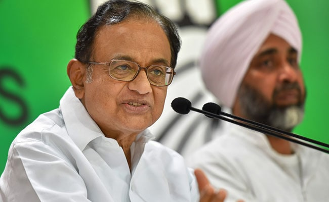 P Chidambaram Takes Dig At PM Over His Remarks On Congress' Loan Waivers