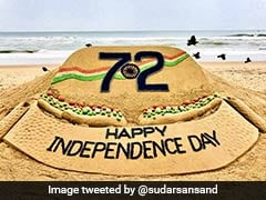 On Independence Day, See Sudarsan Pattnaik's Beautiful Sand Tribute