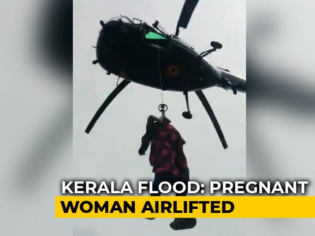 Video : On Video, Navy Rescue Of Pregnant Kerala Woman Whose Water Broke