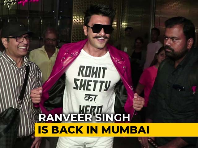 Video : Airport Diaries: Rohit Shetty's Hero Ranveer Singh Is Back In Mumbai