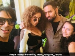 <I>Mental Hai Kya</I>: Kangana Ranaut Is Chilling With Her Squad In London. See Pics