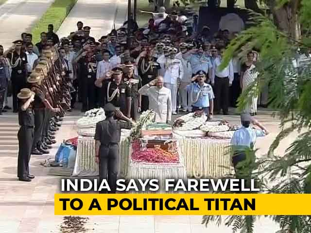 Video : Farewell, Atal Bihari Vajpayee. PM Modi, Thousands Join Last Journey