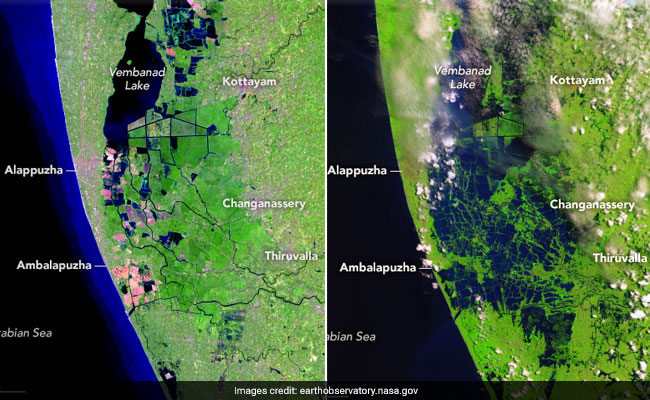 NASA Before-After Images Of Kerala Show The Flood Ravaged State's Devastation