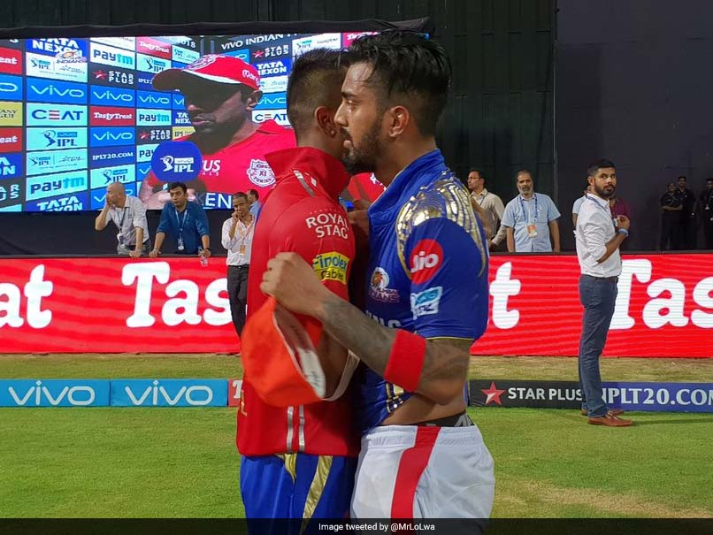 Ipl 2018 Kl Rahul And Hardik Pandya Exchange Their Jerseys After Mi