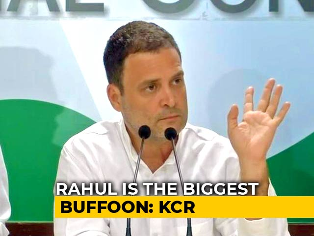 "Video : Rahul Gandhi ""Biggest Buffoon"" In The Country, Says KCR"