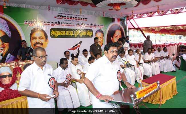 Tamil Nadu Chief Minister Palaniswami Inaugurates Infrastructure Projects
