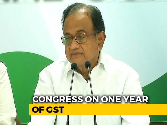 """Video : """"GST Has Become A Bad Word Among People"""": P Chidambaram Slams Centre"""