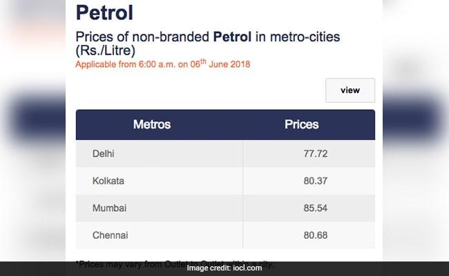 petrol price 7 6 18