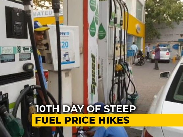 Video : On 10th Straight Hike, Petrol Prices Touch Rs. 85 In Mumbai