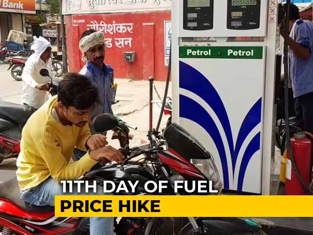 Video : 11 Days, 11 Hikes: Petrol, Diesel Costlier By Over 2.5 Rupees Per Litre