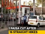 "Video : 60 Paise Cut An ""Error"". After A Fortnight, 1 Paisa Petrol Price Cut"