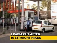 "Video: 60 Paise Cut An ""Error"". After A Fortnight, 1 Paisa Petrol Price Cut"