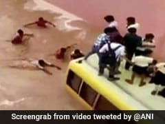 Watch: Dramatic Rescue Of Schoolchildren From Submerged Bus In Rajasthan