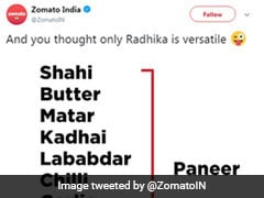 Netflix Out-Trolls Zomato After Funny Tweet On Radhika Apte... And Paneer