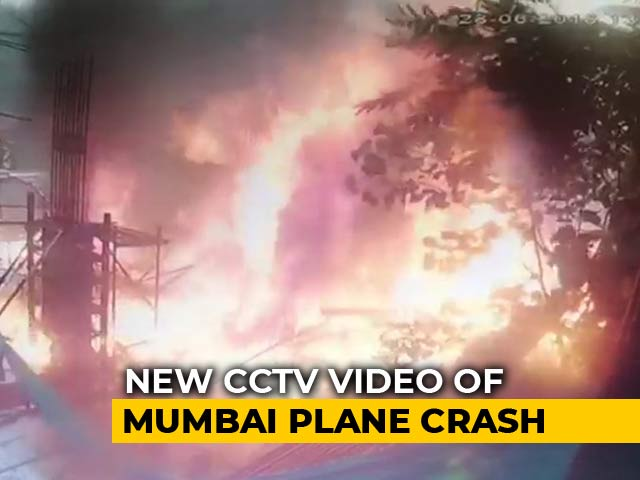 "Video : ""A Ball Of Fire"": New CCTV Video Shows Mumbai Plane Explode"